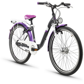 s'cool chiX 26 7-S - Vélo junior Enfant - steel gris/violet